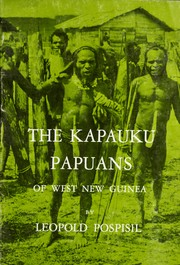 Cover of: The Kapauku Papuans of West New Guinea
