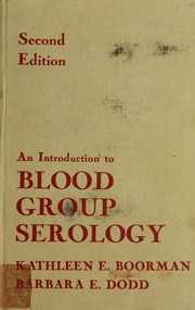 Cover of: An introduction to blood group serology