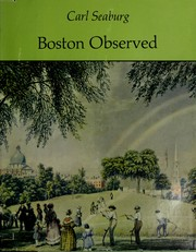 Cover of: Boston observed