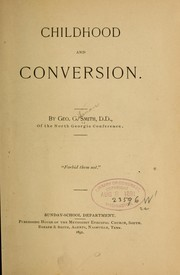 Cover of: Childhood and conversion