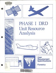 Cover of: Phase I DRD Unit resource analysis : user requirement specifications : forestry