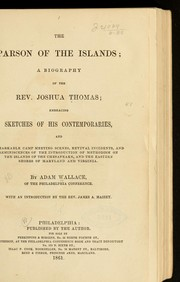 Cover of: The parson of the islands