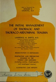 Cover of: The initial management of thoracic and thoraco-abdominal trauma