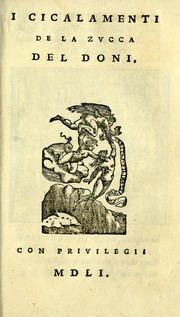 Cover of: La zvcca del Doni
