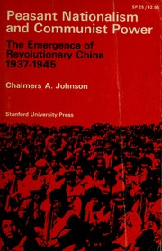 Cover of: Peasant nationalism and communist power