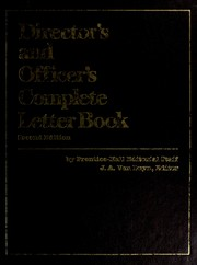 Cover of: Director's and officer's complete letter book | by Prentice-Hall editorial staff, J.A. Van Duyn, editor.