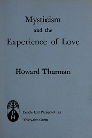 Cover of: Mysticism and the experience of love