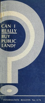 Cover of: Can I really buy public land?