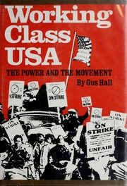 Cover of: Working class USA