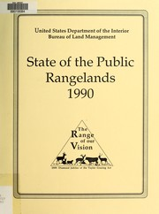 Cover of: State of the public rangelands, 1990