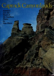 Cover of: Caprock canyonlands
