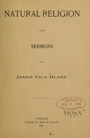 Cover of: Natural religion in sermons: ...