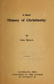 Cover of: A short history of Christianity