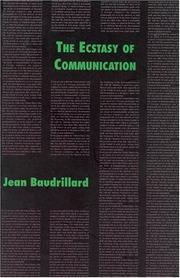 Cover of: The ecstasy of communication