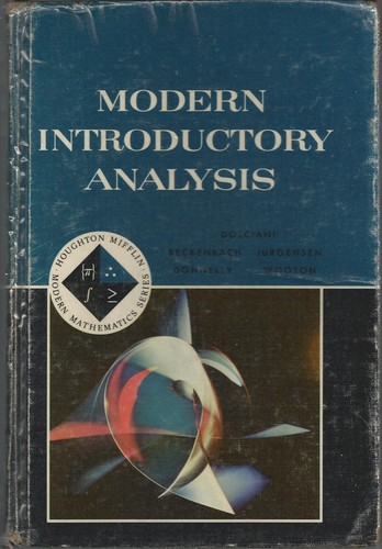 Modern Introductory Analysis by Mary P. Dolciani