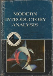 Cover of: Modern Introductory Analysis by Mary P. Dolciani