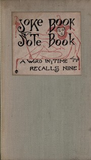 Cover of: Joke Book Note Book