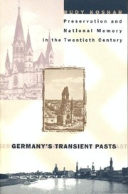 Cover of: Germany's transient pasts