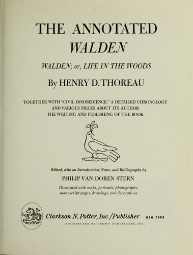 The Annotated Walden