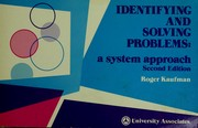 Cover of: Identifying and solving problems | Roger A. Kaufman