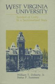 Cover of: West Virginia University, symbol of unity in a sectionalized state | William T. Doherty