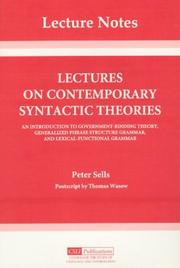 Lectures on contemporary syntactic theories by Peter Sells