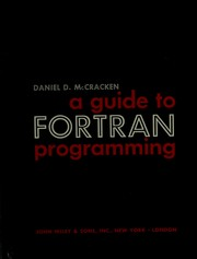 Cover of: A guide to FORTRAN programming