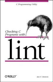 Checking C programs with lint by Ian F. Darwin