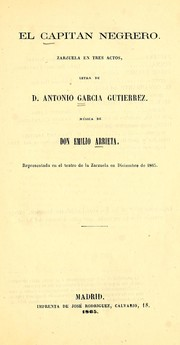 Cover of: El capitán negrero