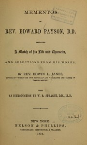 Cover of: Mementos of Rev. Edward Payson...