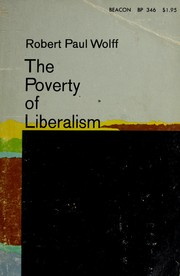 Cover of: The poverty of liberalism