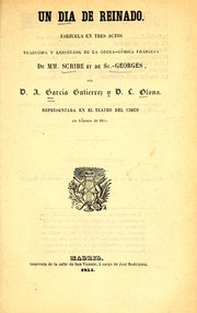 Cover of: Un día de reinado