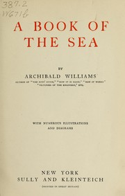 Cover of: A book of the sea | Archibald Williams