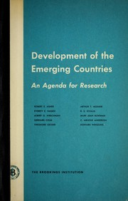 Cover of: Development of the emerging countries | Brookings Institution.