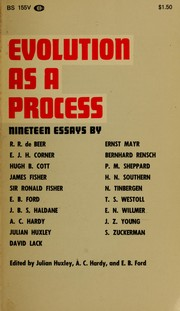 Cover of: Evolution as a process: essays
