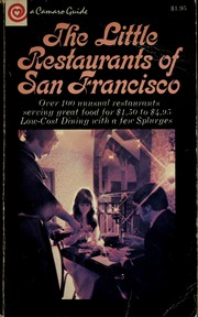 Cover of: The Little Restaurants of San Francisco (A Camaro Guide)