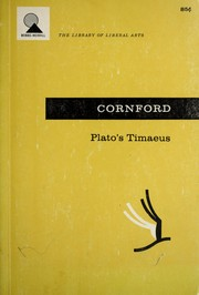 Cover of: Timaeus. by Plato