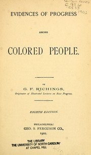Cover of: Evidences of progress among colored people