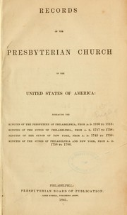 Cover of: Records of the Presbyterian church... | Presbyterian church in the U. S. A. [from old catalog]