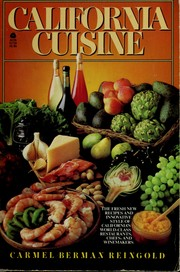 Cover of: California cuisine