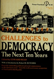 Cover of: Challenges to democracy