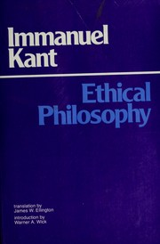 Cover of: Ethical Philosophy