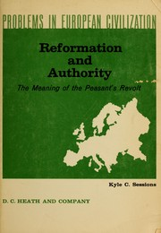 Reformation and authority by Kyle C. Sessions