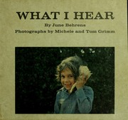Cover of: What I hear in my school