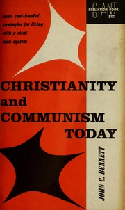 Cover of: Christianity and communism today | John Coleman Bennett