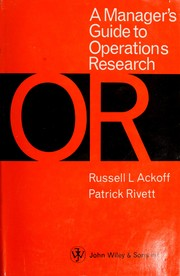 Cover of: A manager's guide to operations research