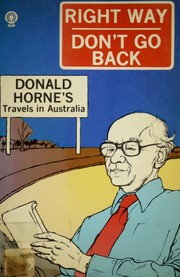 Cover of: Right way, don't go back | Donald Horne
