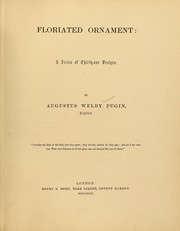 Cover of: Floriated ornament: a series of thirty-one designs