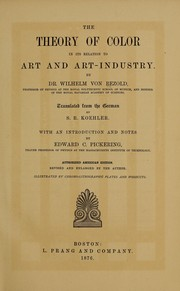 Cover of: The theory of color in its relation to art and art-industry