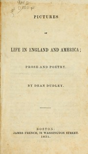 Cover of: Pictures of life in England and America